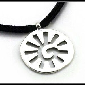 Sun spiral pendant